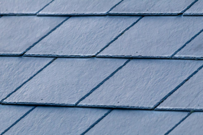 Synthetic slate tiles are much cheaper than real slate roof tiles.
